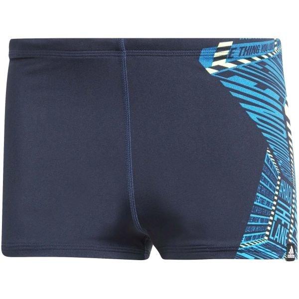 Modro-šedé pánské boxerky Adidas - 1 ks
