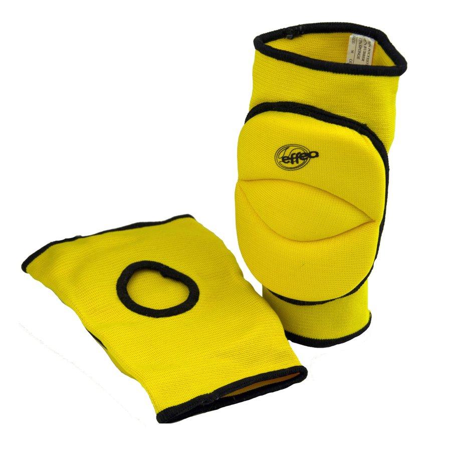 Žluté volejbalové chrániče - junior na kolena Effea