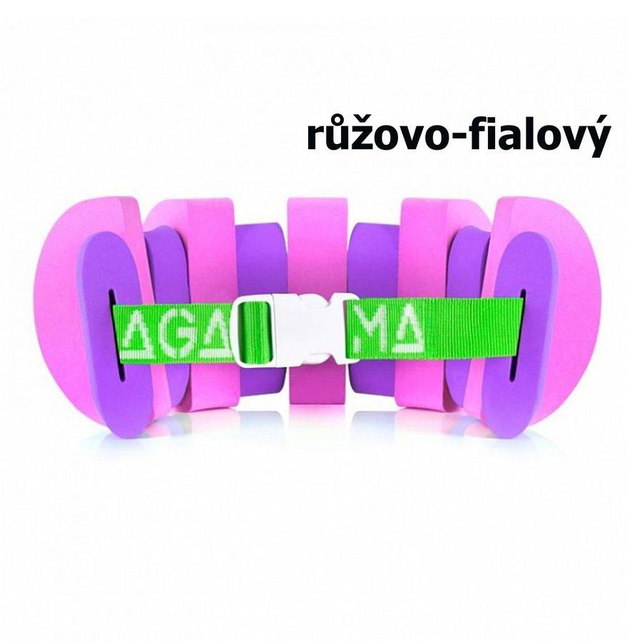 Fialovo-růžový plavecký pás Agama - délka 80 cm