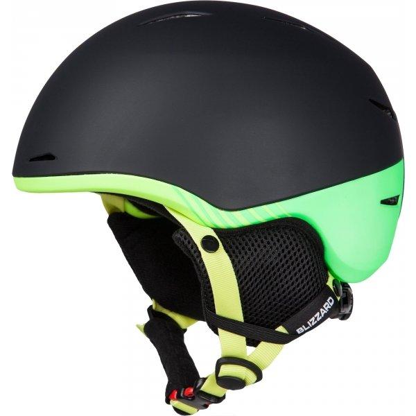 Černo-zelená pánská lyžařská helma Blizzard - velikost 51-54 cm