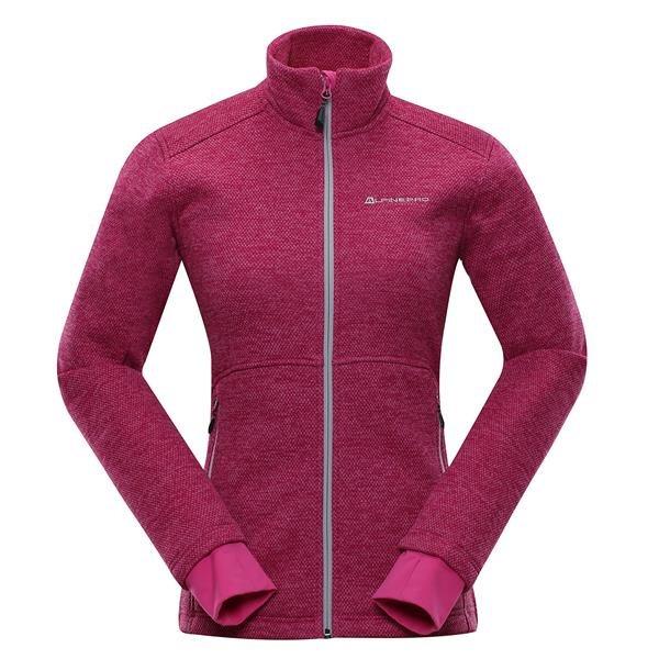 Růžová dámská lyžařská mikina Alpine Pro