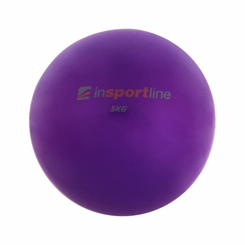 Fialový míč na jógu inSPORTline - 5 kg