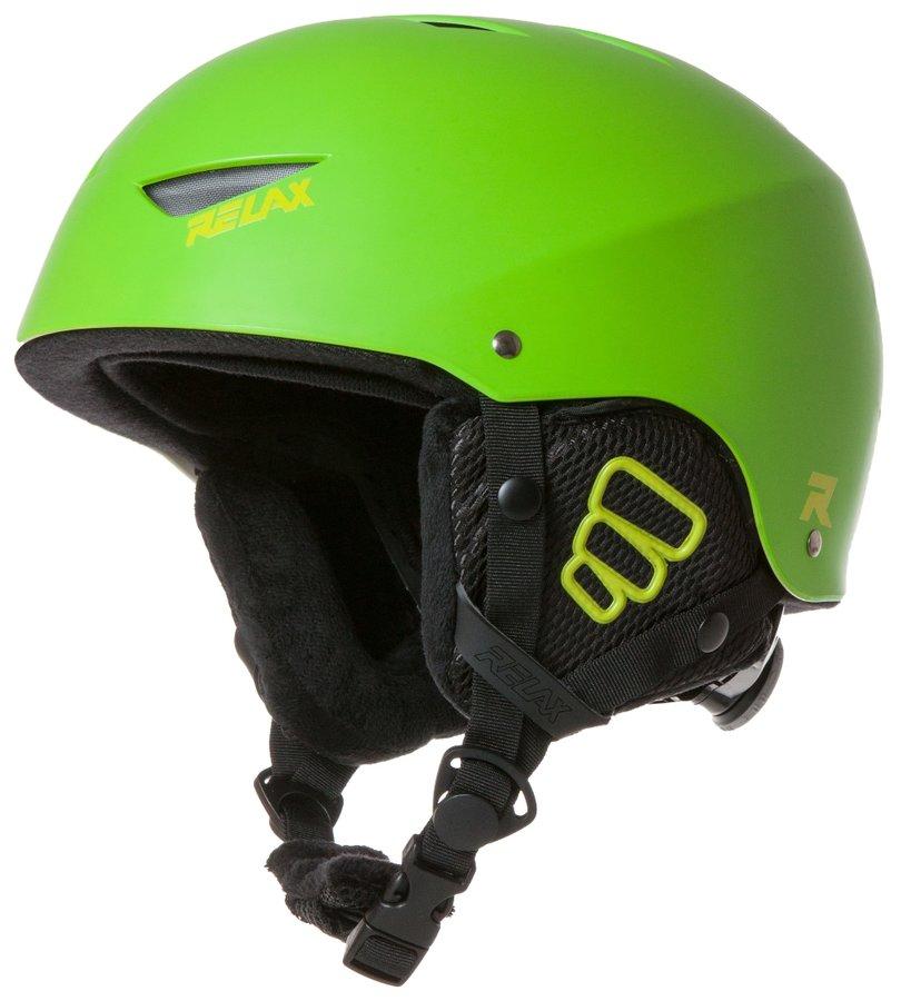 Zelená lyžařská helma Relax - velikost L