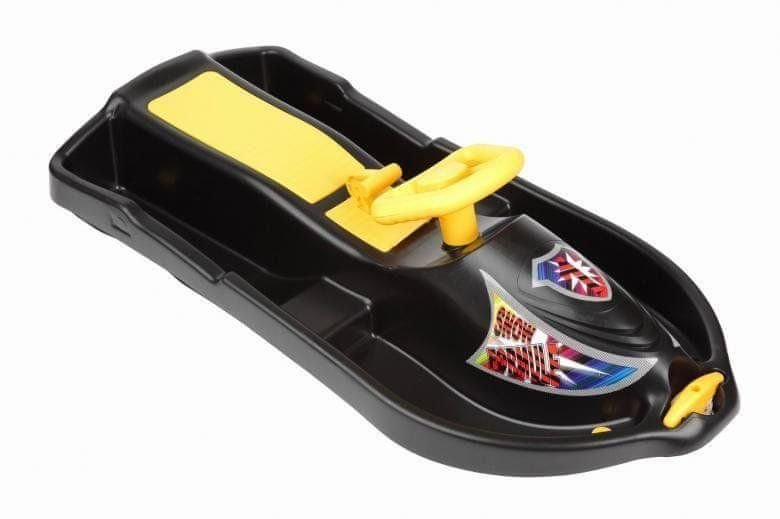 Černé dětské boby s volantem Plastkon