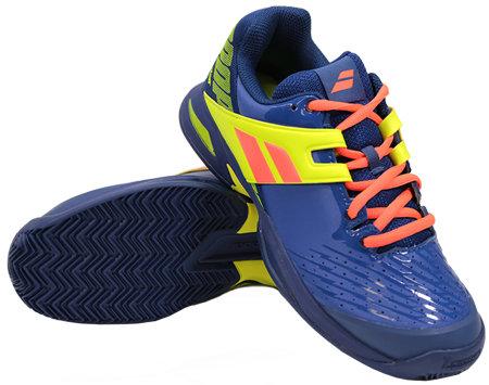 Modro-žlutá pánská tenisová obuv Propulse Clay, Babolat