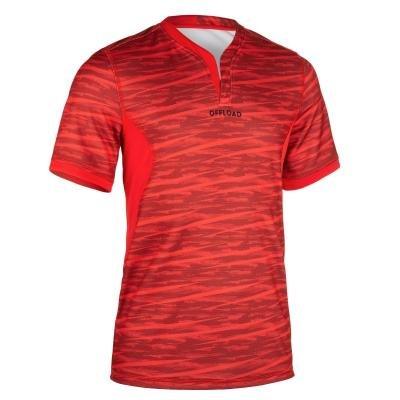 Červený pánský ragbyový dres R500, Offload