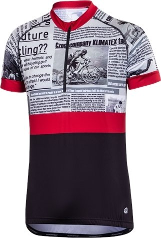 Černý pánský cyklistický dres Klimatex