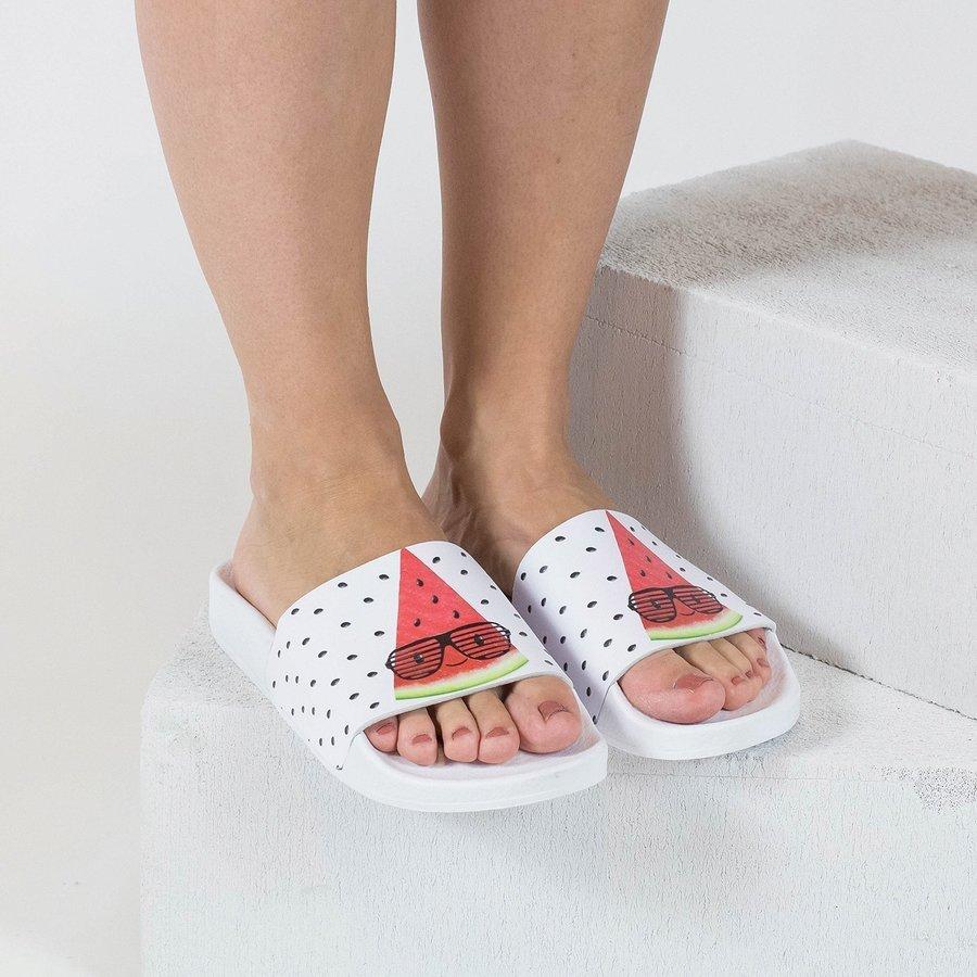 Bílé dámské pantofle The White Brand