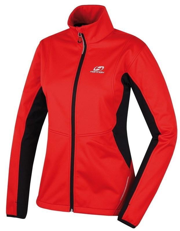 Černo-červená dámská lyžařská bunda Hannah