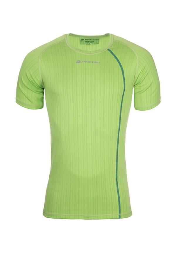 Zelené pánské funkční tričko Alpine Pro - velikost S