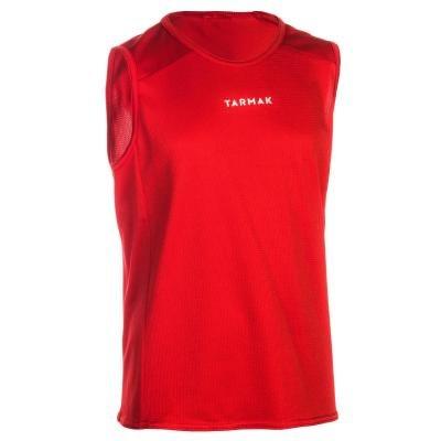 Červený dětský basketbalový dres T100, Tarmak - velikost 115
