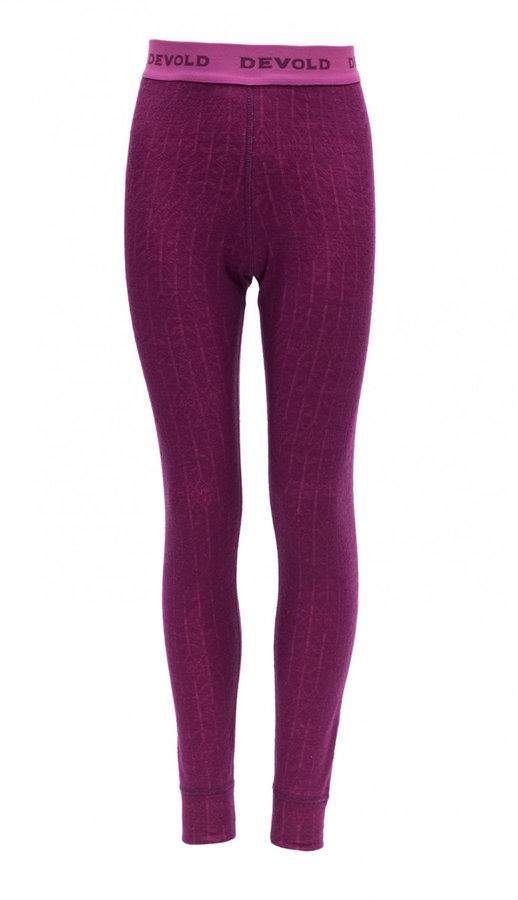 Růžové dívčí funkční kalhoty Devold