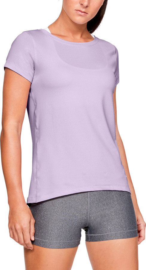 Fialové dámské tričko s krátkým rukávem Under Armour