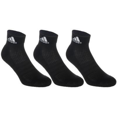 Černé kotníkové pánské nebo dámské tenisové ponožky  Adidas - velikost 35-38 EU