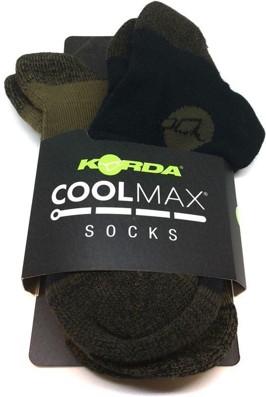 Černé pánské ponožky COOLMAX®, Korda - velikost 44,5-47 EU - 2 ks
