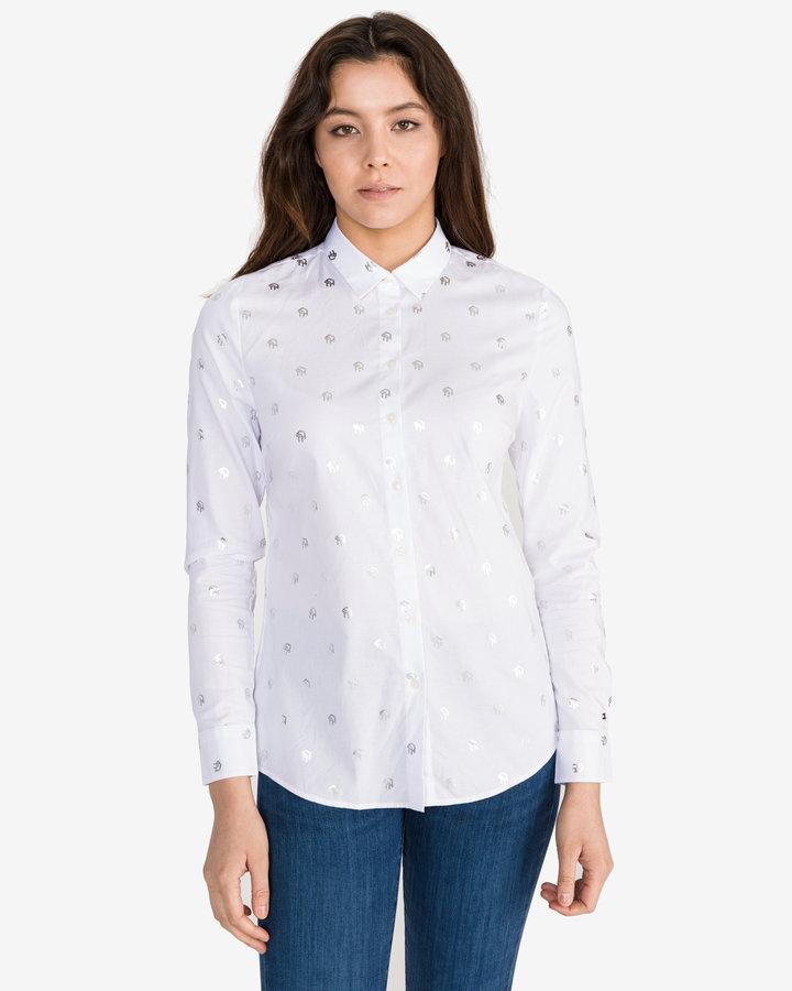 Bílá dámská košile s dlouhým rukávem Tommy Hilfiger