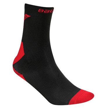 Černo-červené hokejové ponožky Bauer - velikost 46-49 EU