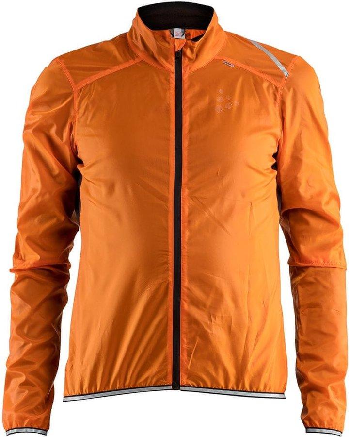 Oranžová pánská cyklistická bunda Craft - velikost XL