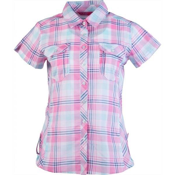 Modro-růžová dámská košile s krátkým rukávem Willard