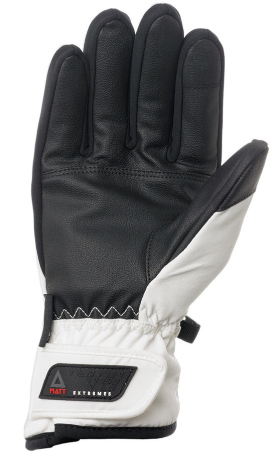 Bílo-černé dámské zimní rukavice Matt