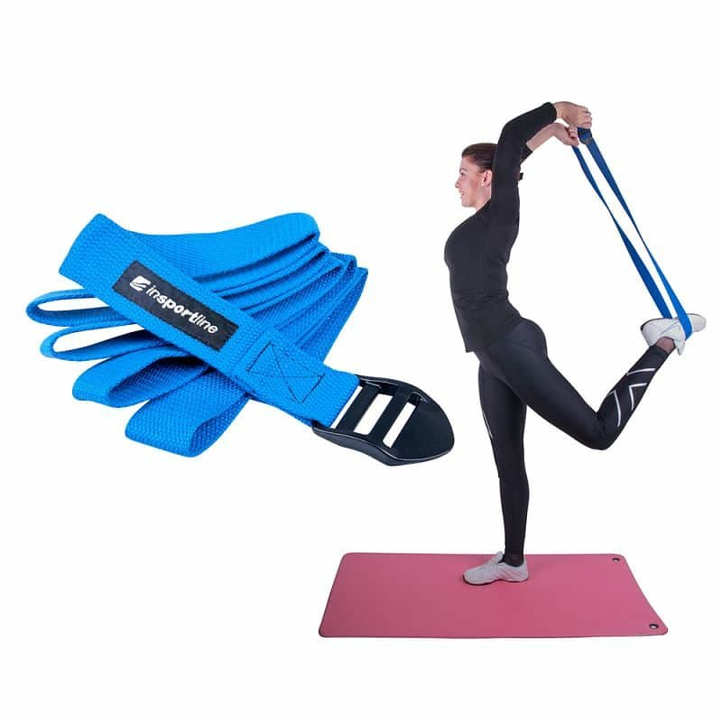 Modrý jóga pás inSPORTline - délka 185 cm
