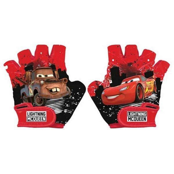 Červené dětské cyklistické rukavice Disney Brand