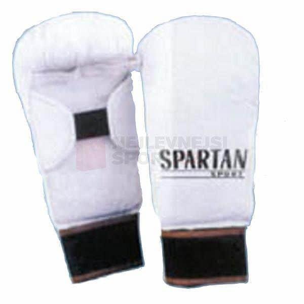 Bílá karate rukavice Spartan - velikost L