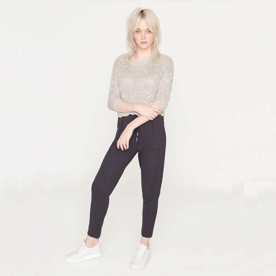 Svetr - Šedivý krátký svetr – M