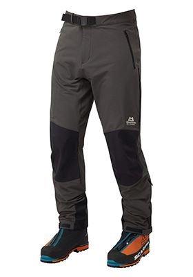 Černo-šedé softshellové pánské turistické kalhoty Mountain Equipment