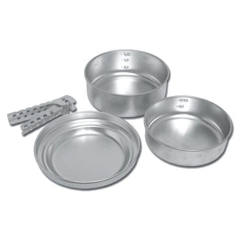 Kempingové nádobí - Nádobí hliníkové čtyřdílné (eloxované)