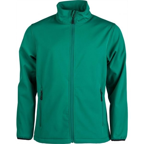 Zelená softshellová pánská bunda Kensis