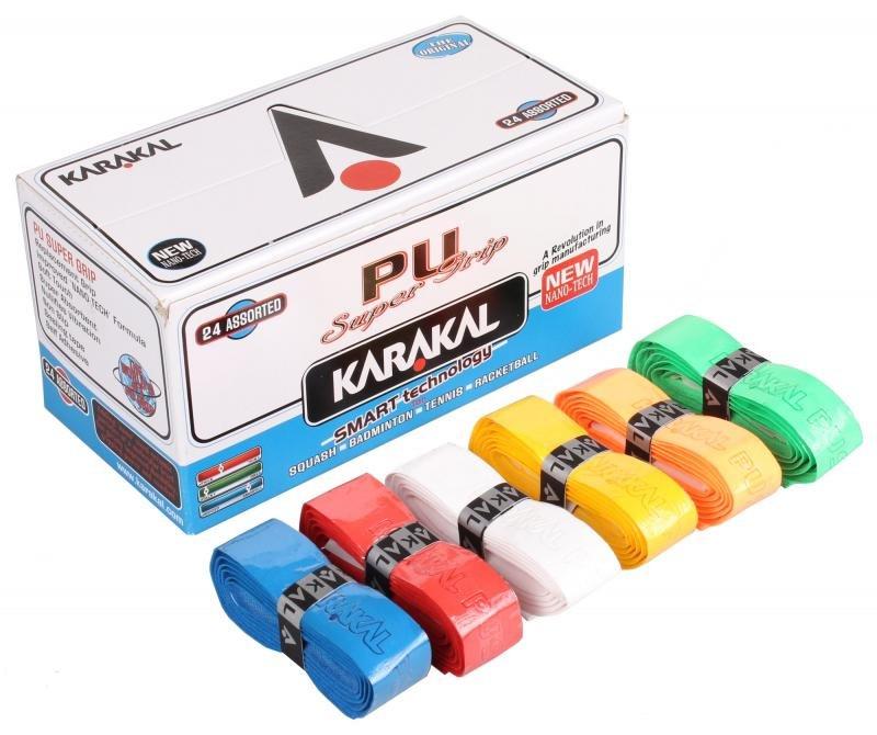 Squashová omotávka - Karakal PU Super grip Assorted základní omotávka - mix barev 1 ks