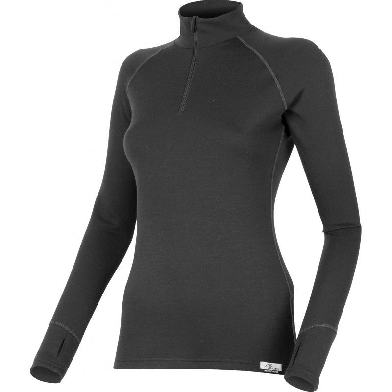 Černé dámské funkční tričko s dlouhým rukávem Lasting