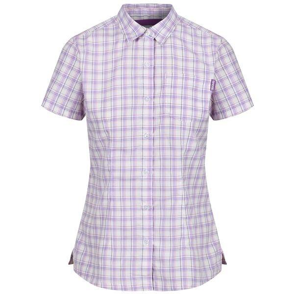 Fialová dámská košile s krátkým rukávem Regatta - velikost 36