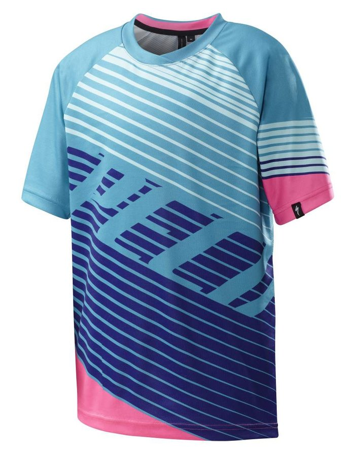 Dětský chlapecký nebo dívčí cyklistický dres Specialized - velikost M
