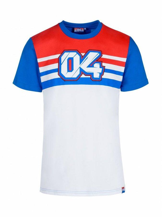Různobarevné pánské motorkářské tričko s krátkým rukávem Dovizioso - velikost XXL
