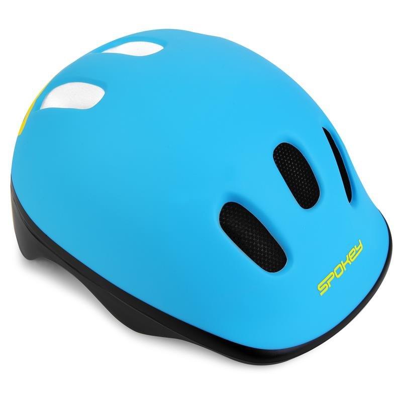 Modrá dětská cyklistická helma Spokey - velikost 49-56 cm