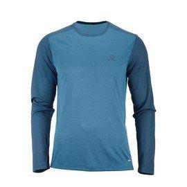 Modré pánské tričko s dlouhým rukávem Salomon
