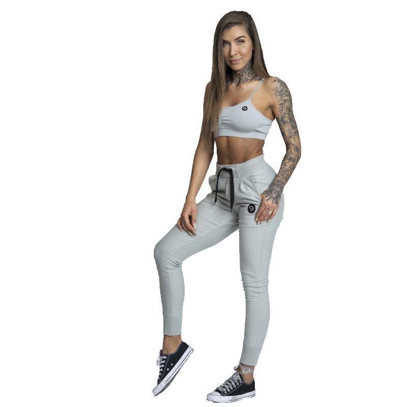Šedé dámské tepláky Gym Glamour - velikost S