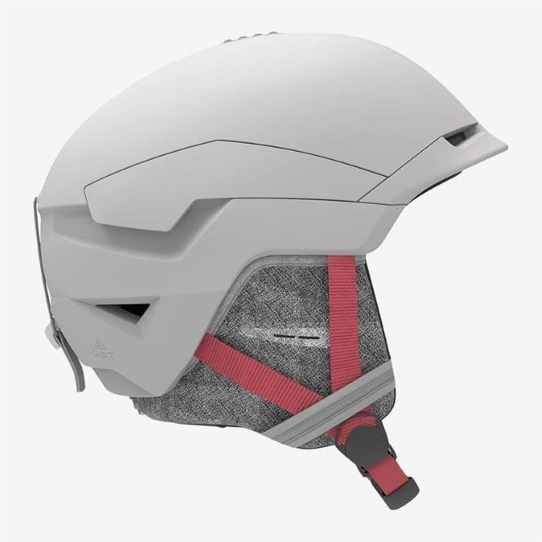 Bílá lyžařská helma Salomon - velikost 56-59 cm