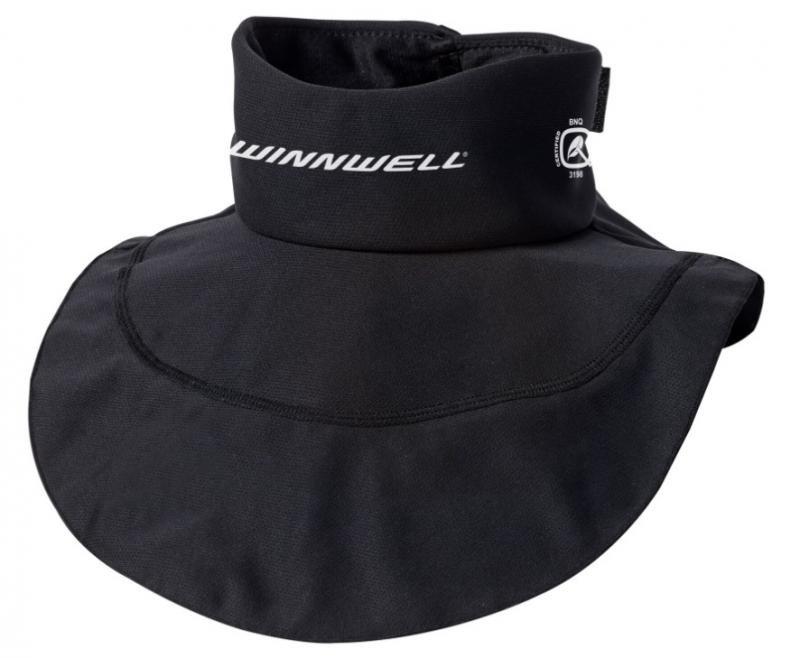 Černý hokejový nákrčník - senior Winnwell - velikost M