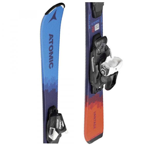 Modro-oranžové dětské lyže s vázáním Atomic - délka 120 cm