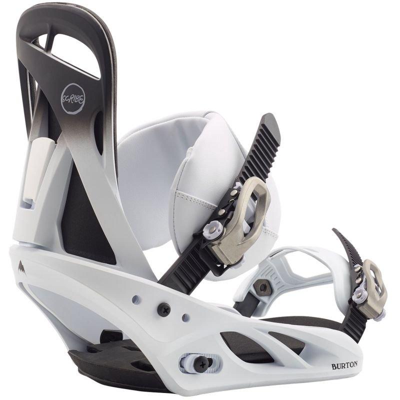 Bílé vázání na snowboard Burton