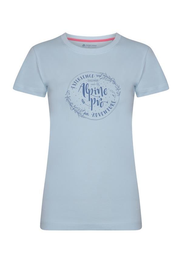 Modré dámské tričko s krátkým rukávem Alpine Pro - velikost XXL