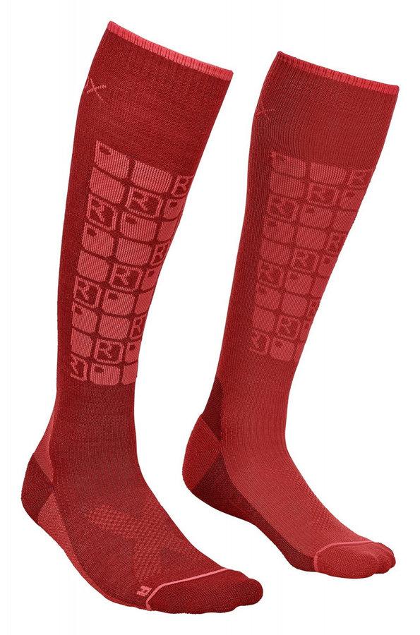 Červené dámské ponožky W's Ski Compression, Ortovox - velikost 42-44 EU