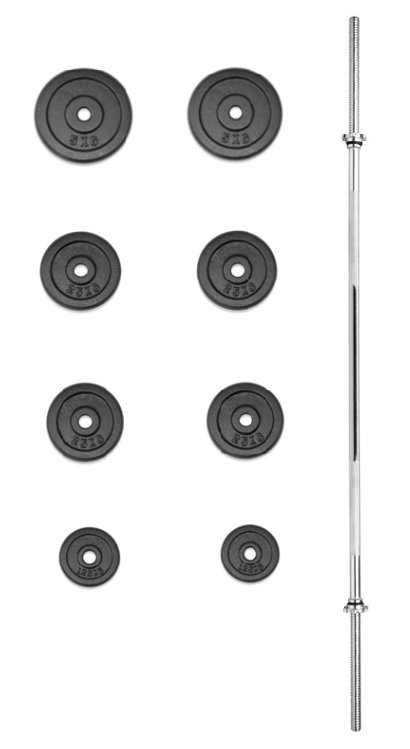 Činkový set - TRINFIT nakládací činka PREMIUM 30 kg kovová
