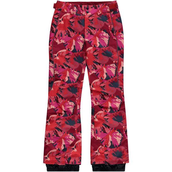 Červené dívčí snowboardové kalhoty O'Neill