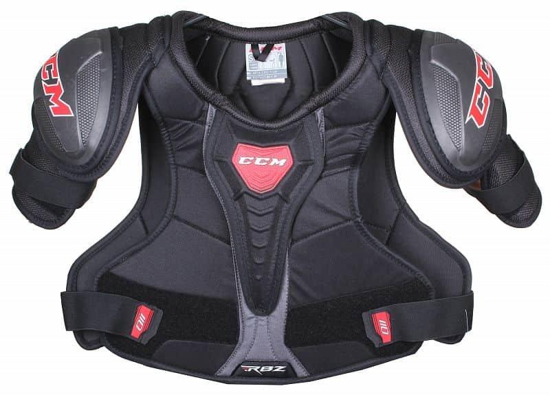 Černý hokejový chránič ramen - senior CCM - velikost S
