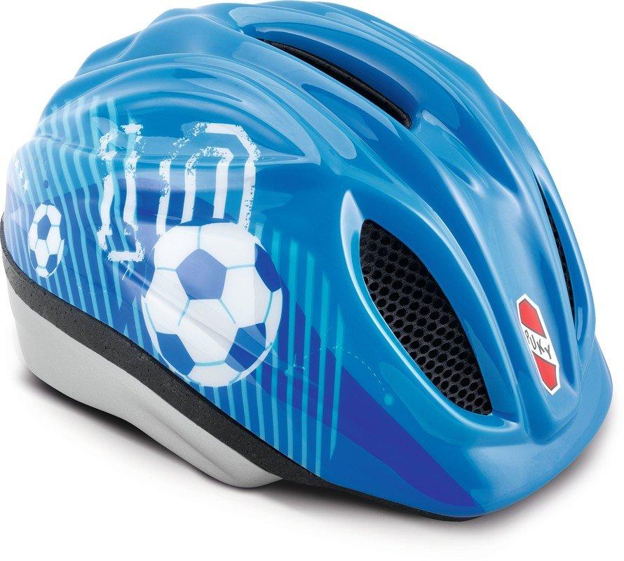 Cyklistická helma - PUKY - Přilba - modrá Fotbal - velikost S / M