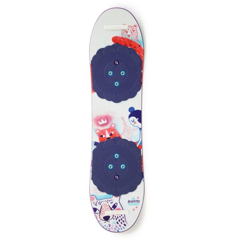 Bílý dětský snowboard bez vázání Burton - délka 125 cm